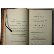 A JOURNAL OF OCCURENCES AT THE TEMPLE. DURING THE CONFINEMENT OF LOUIS XVI, KING OF FRANCE.
