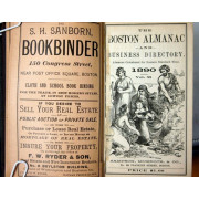 THE BOSTON ALMANAC AND BUSINESS DIRECTORY, Vol. 55, 1890.