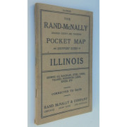 RAND McNALLY & CO.'S INDEXED COUNTY AND TOWNSHIP POCKET MAP AND SHIPPER'S GUIDE OF ILLINOIS. Showing All Railroads, Cities, Towns, Villages, Postoffices, Lakes, Rivers, Etc...