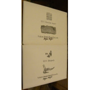 Q. R. V. HIKUPTAH. A Dozen Dogear Wryde Postcards. Along with Q. R. V. UNWMKD. IMPERF. A Dozen Dogear Wryde Postcards