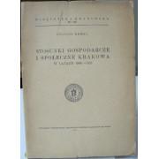STOSUNKI GOSPODARCZE I SPOLECZNE KRAKOWA W LATACH 1846-1853.
