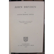 JOHN DRYDEN. Clark Lectures of English Literature, 1948-9.