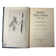 MORE THEATRES, 1898-1903; With an introduction by Rupert Hart-Davis.