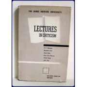 LECTURES IN CRITICISM. Introduction by Huntington Cairns.
