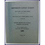 L'ACTION LEGISLATIVE DANS LA DYNAMIQUE INDUSTRIELLE HAITIENNE DE 1949 A 1970.