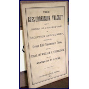 THE GOSS-UDDERZOOK TRAGEDY: BEING A HISTORY OF A STRANGE CASE OF DECEPTION AND MURDER, INCLUDING THE GREAT LIFE INSURANCE CASE, AND THE TRIAL OF WILLIAM E. UDDERZOOK FOR THE MURDER OF W. W. GOSS.