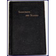 TRANSCRIPTS AND STUDIES.