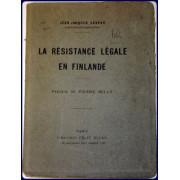 LA RESISTANCE LEGALE EN FINLANDE