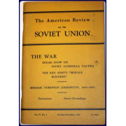 THE AMERICAN REVIEW ON THE SOVIET UNION. VOL. 4, #4, 1941.