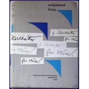 VZAJOMNE LISTY J. VICKA A J. SKULTETYHO.
