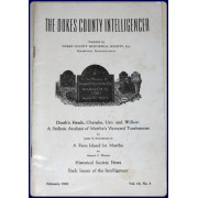 DEATH'S HEADS, CHERUBS, URN AND WILLOW: A STYLISTIC ANALYSIS OF MARTHA'S VINEYARD TOMBSTONES. In THE DUKES COUNTY INTELLIGENCER, Vol. 10:3 February 1969.