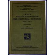 PROBEN AUS DER SOGENANNTEN MULOMEDICINA CHIRONIS (BUCH II UND III)