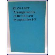 FRANZ LISZTS MUSIKALISCHE WERKE, BEARBEITUNGEN L. VAN BEETHOVEN SYMPHONIEN NR. 1-5 KLAVIERAUSZUG ZU ZWEI HANDEN, FRANZ LISZT'S MUSICAL WORKS, ARRANGEMENTS L. VAN BEETHOVEN SYMPHONIES NO. 1-5, PIANO SCORE FOR TWO HANDS