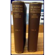 THE HISTORY OF ENGLISH PATRIOTISM. 2 Volumes.